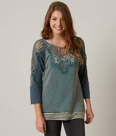 Gimmicks Washed Crochet Sweatshirt