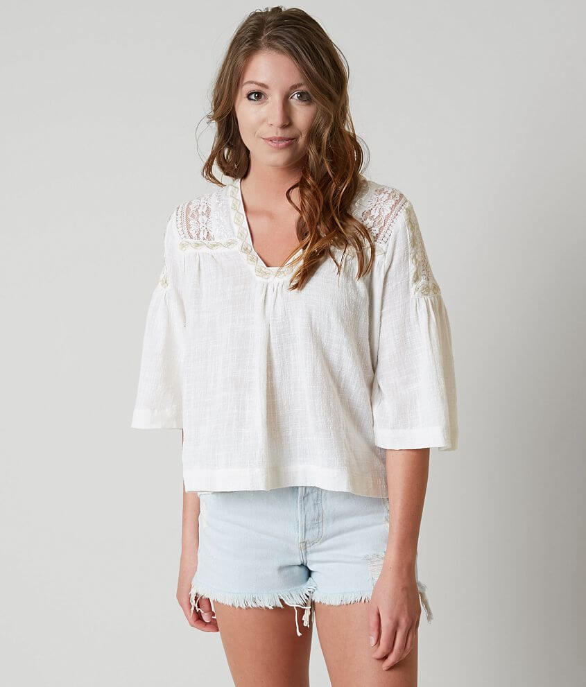 Gimmicks Embroidered Woven Top front view