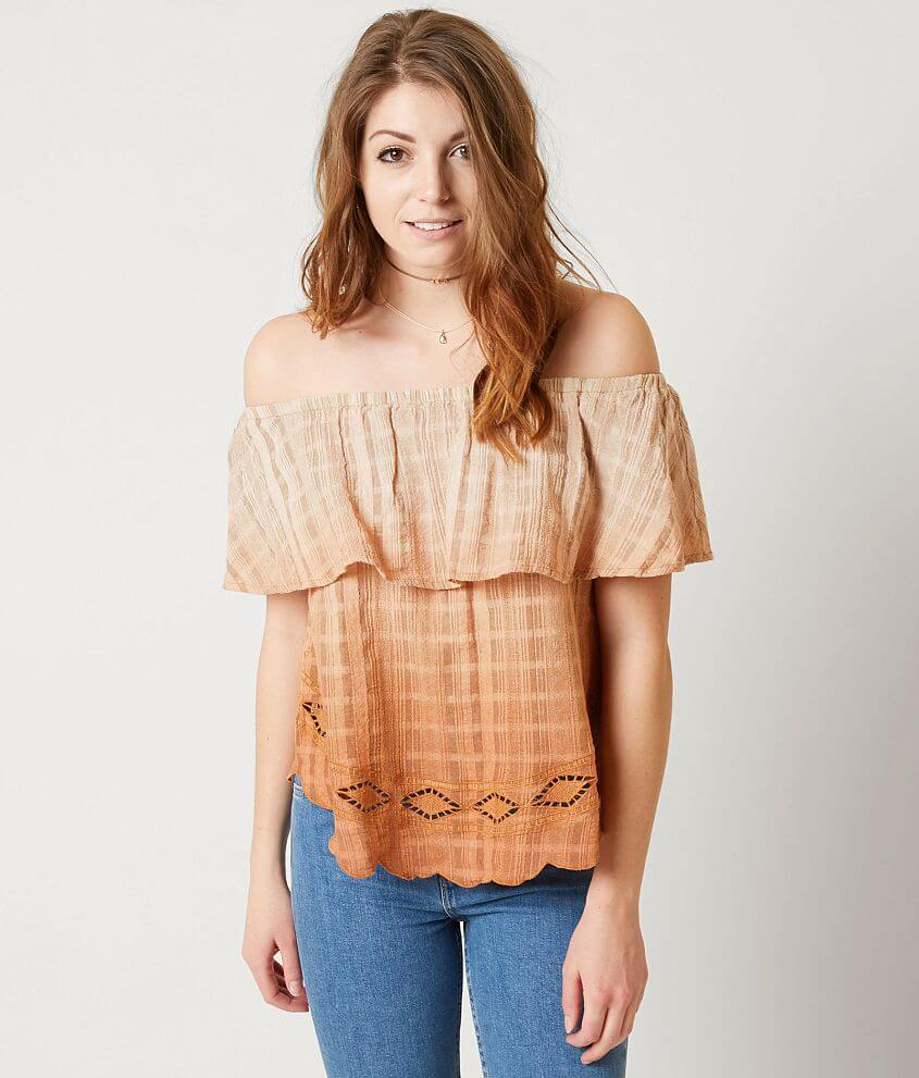 17328422f241cd Gimmicks Off the Shoulder Top - Women s Shirts Blouses in Burnt ...