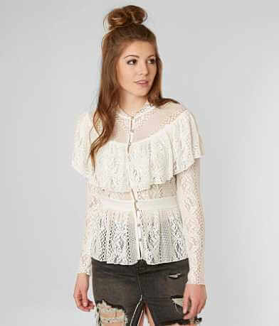 Gimmicks Lace Ruffle Blouse