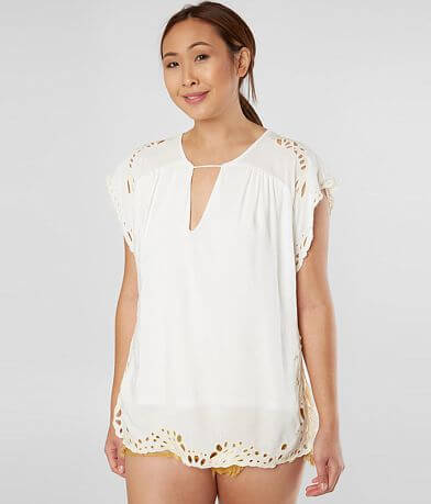 Gimmicks Embroidered Cut-Out Top