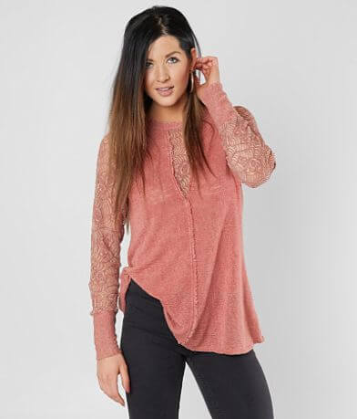 Gimmicks Raw Edge Knit Top