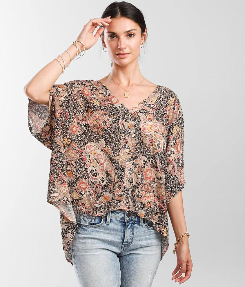 Daytrip Floral Paisley Top front view