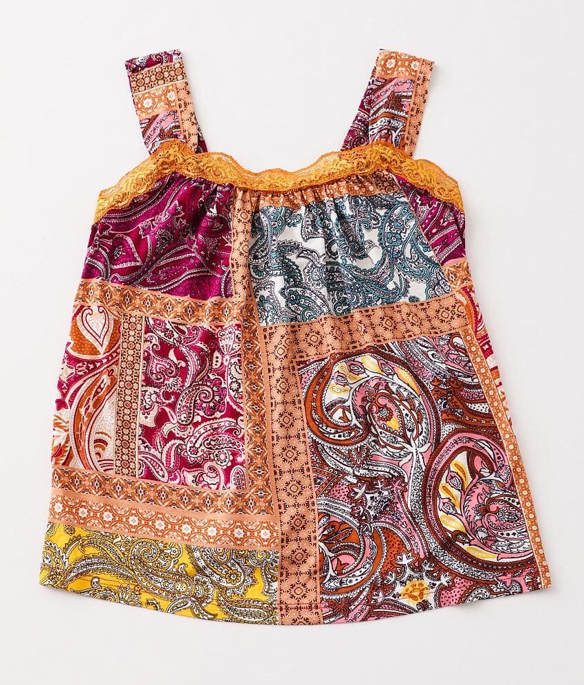 Girls - Gimmicks Girl Patchwork Tank Top front view