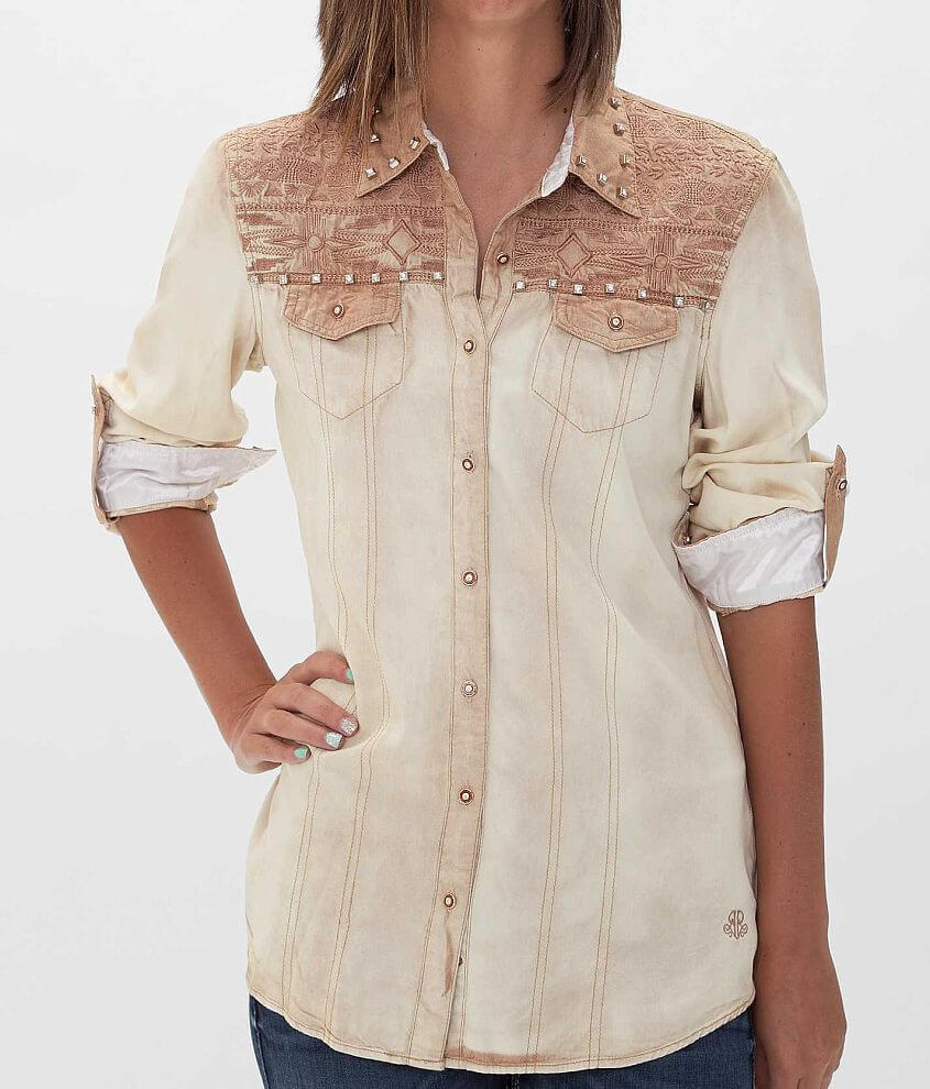 Roar Embroidered Shirt front view