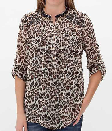 Roar Electric Wild Henley Top