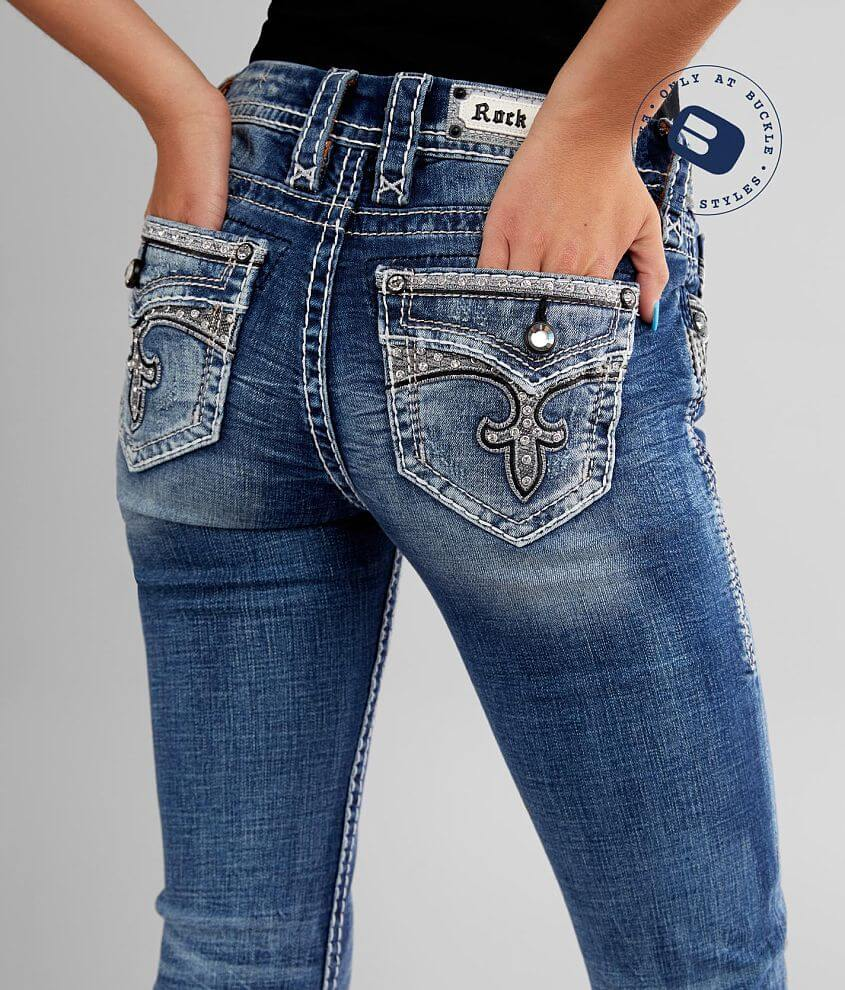 Rock Revival Rima Straight Stretch Cuffed Jean front view