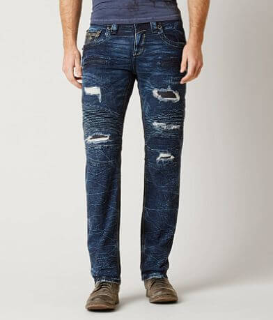 Rock Revival Geo Biker Straight Stretch Jean