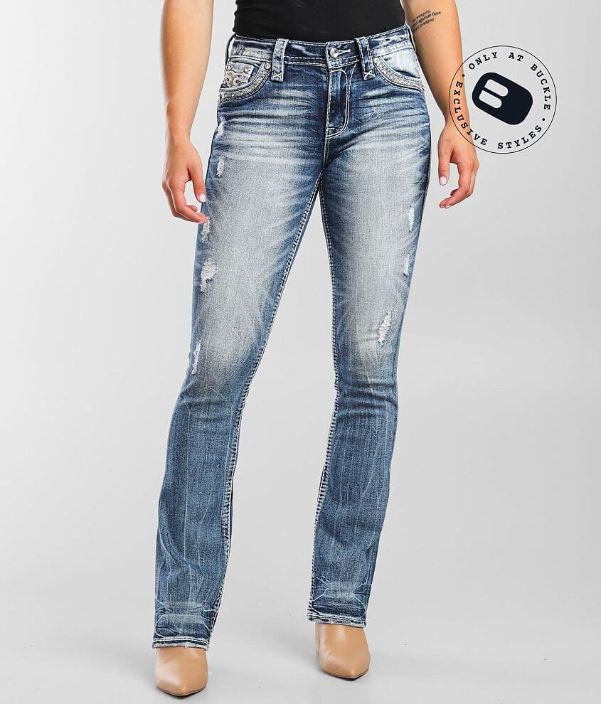 Rock Revival Yui Mid-Rise Boot Stretch Jean front view