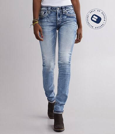 Rock Revival Yui Mid-Rise Straight Stretch Jean