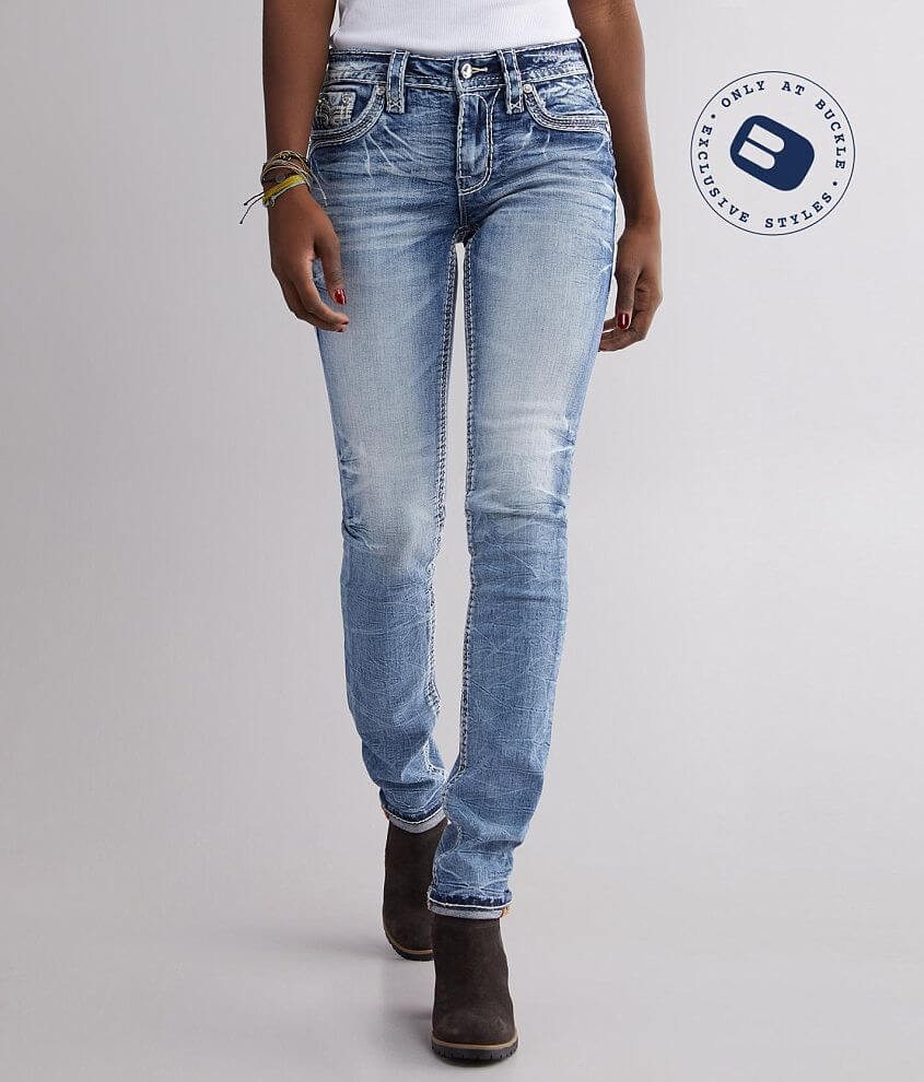 Rock Revival Yui Mid-Rise Straight Stretch Jean front view