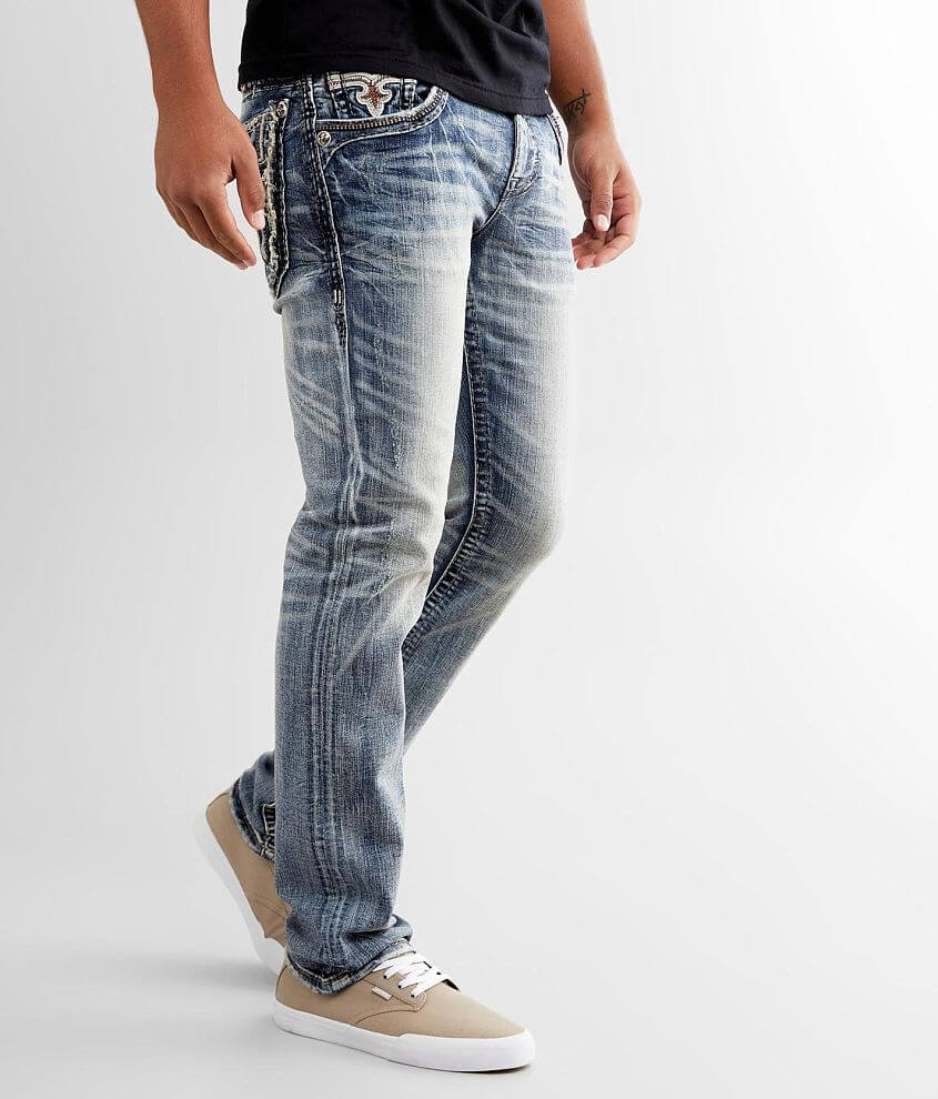 Regular fit jean Comfort stretch jean Straight from knee to hem Low rise, 16 1/2\\\