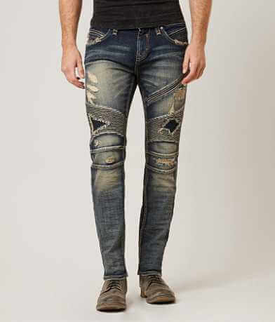 Rock Revival Moto Jezek Slim Straight Jean