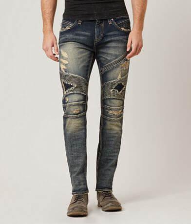Rock Revival Moto Jezek Slim Straight Jean