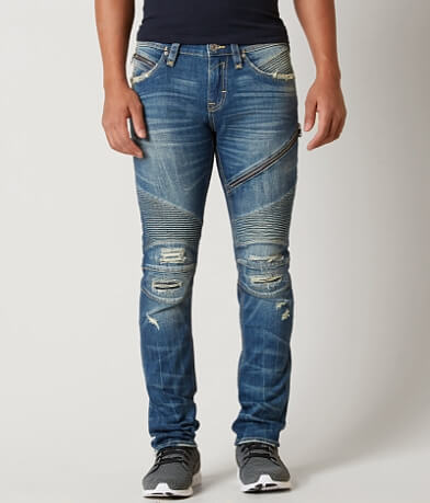 Rock Revival Jezek Moto Slim Straight Stretch Jean