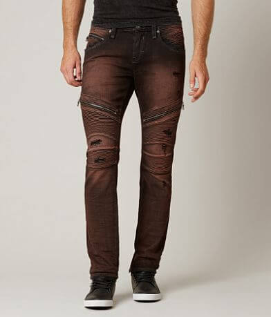 Rock Revival Moto Slim Straight Stretch Jean