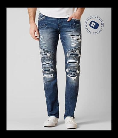 Rock Revival Koa Moto Slim Straight Stretch Jean