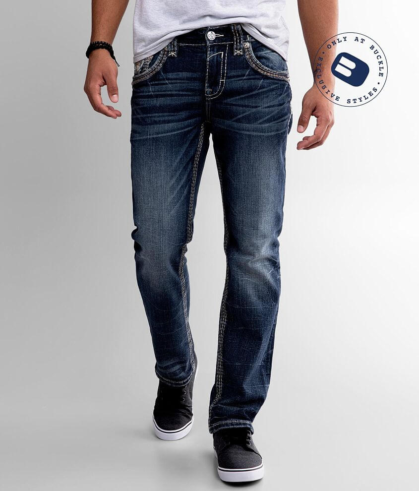 Rock Revival Saif Straight Stretch Jean front view