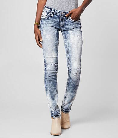 Rock Revival Raven Straight Stretch Cuffed Jean