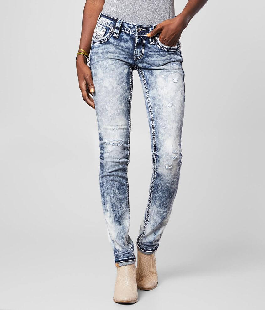 Rock Revival Raven Straight Stretch Cuffed Jean front view