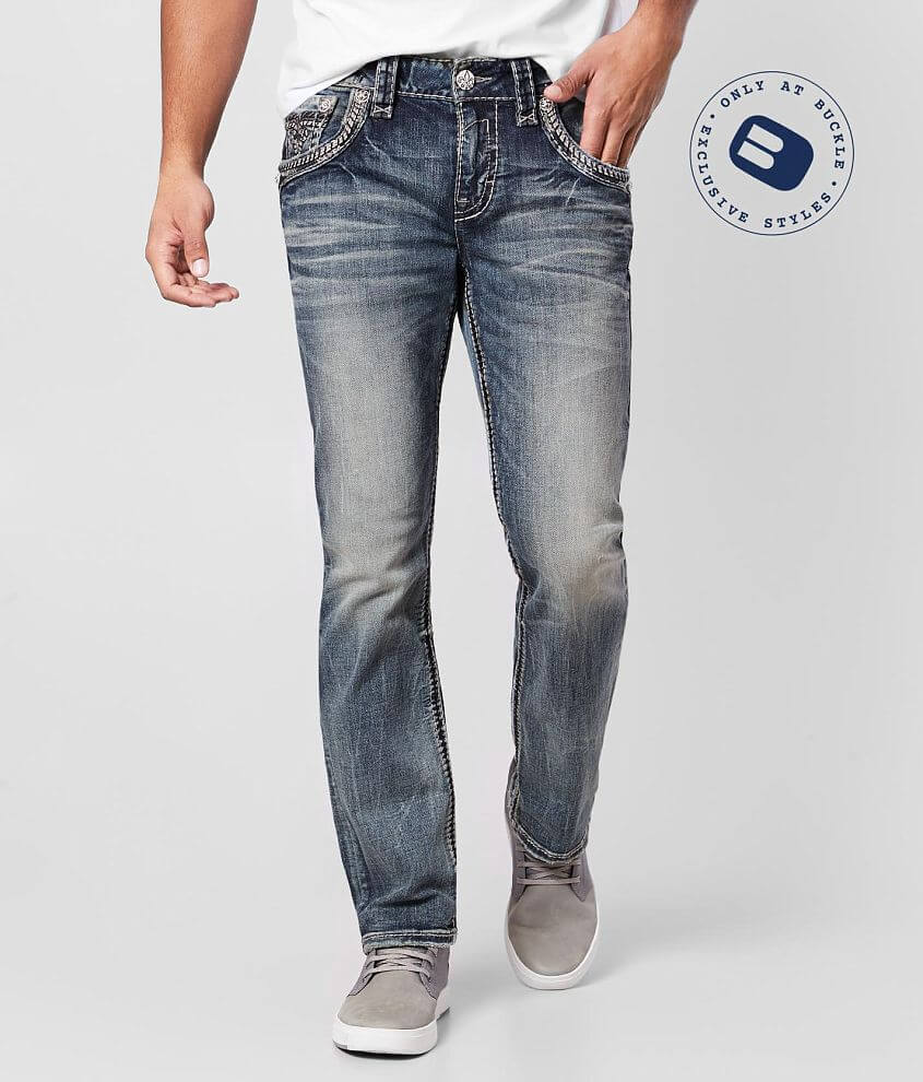 Rock Revival Jerret Straight Stretch Jean front view
