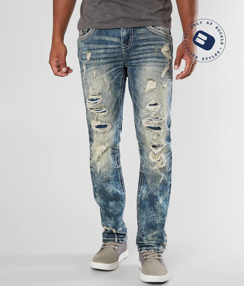 Rock Revival Dewkist Straight Stretch Jean front view
