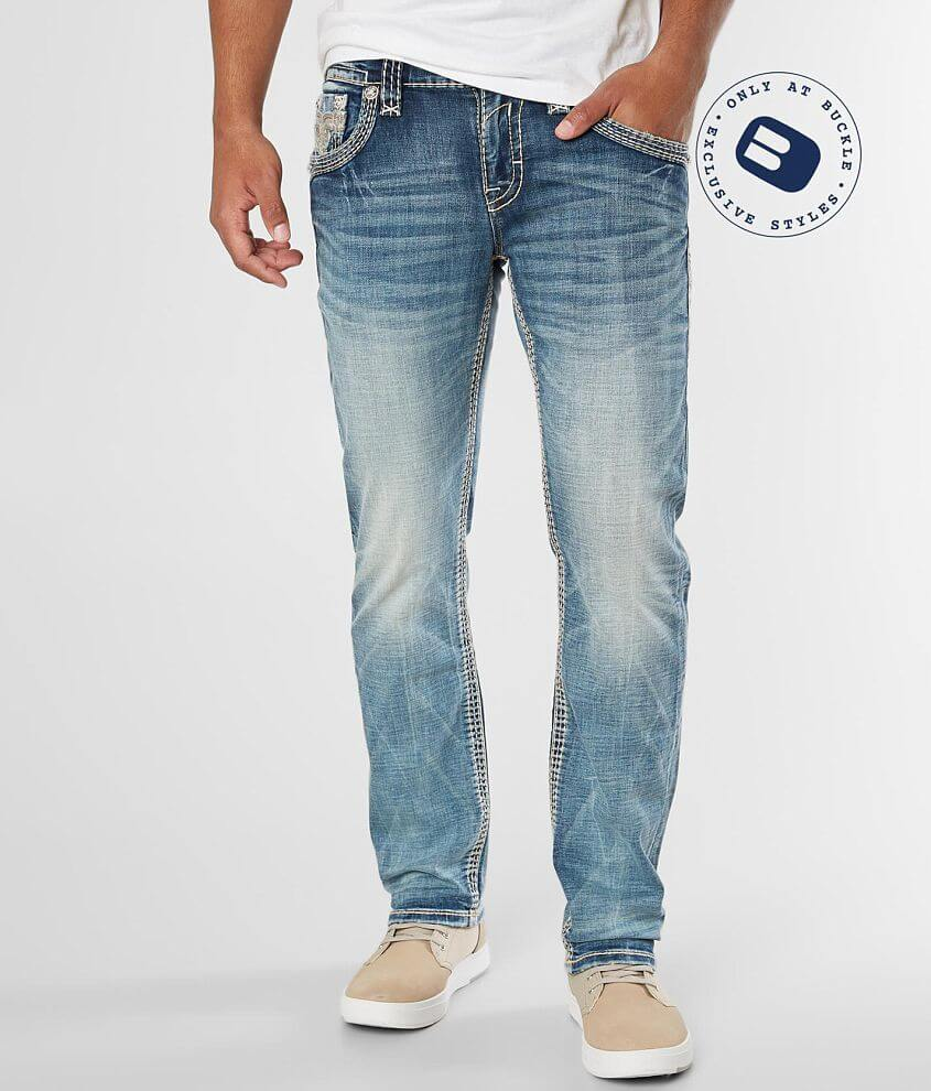 Rock Revival Saif Slim Straight Stretch Jean front view