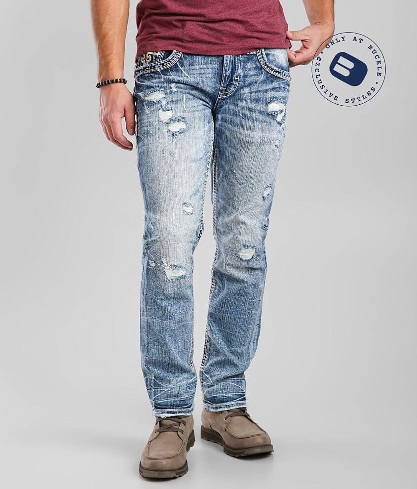 Rock Revival Cashew Straight Stretch Jean front view