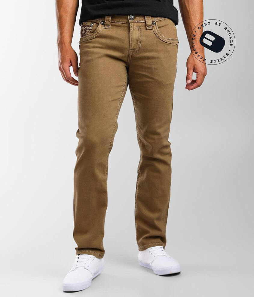 Rock Revival Bisque Straight Stretch Pant front view