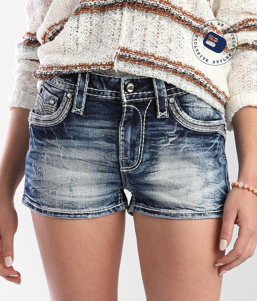 Rock Revival Rima Mid-Rise Stretch Short front view