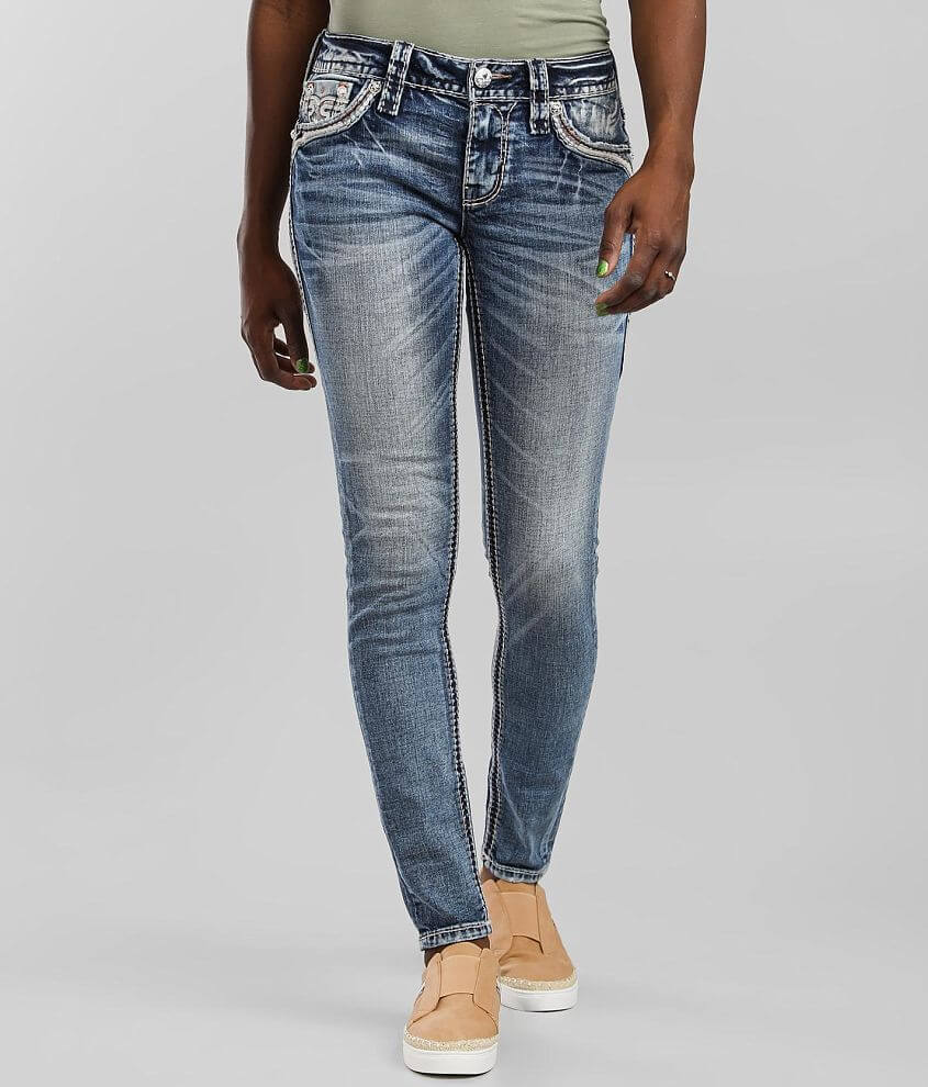 Rock Revival Pink Lady Low Rise Skinny Jean front view