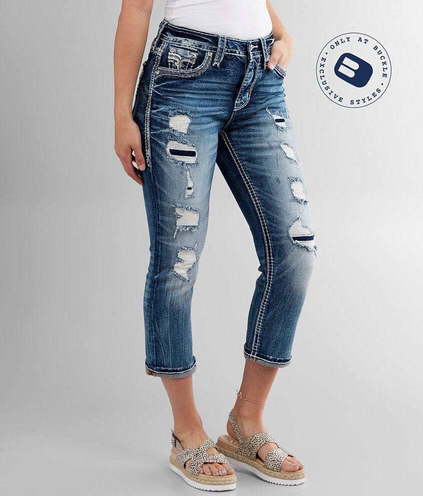 Rock Revival Pelican Easy Stretch Cropped Jean front view