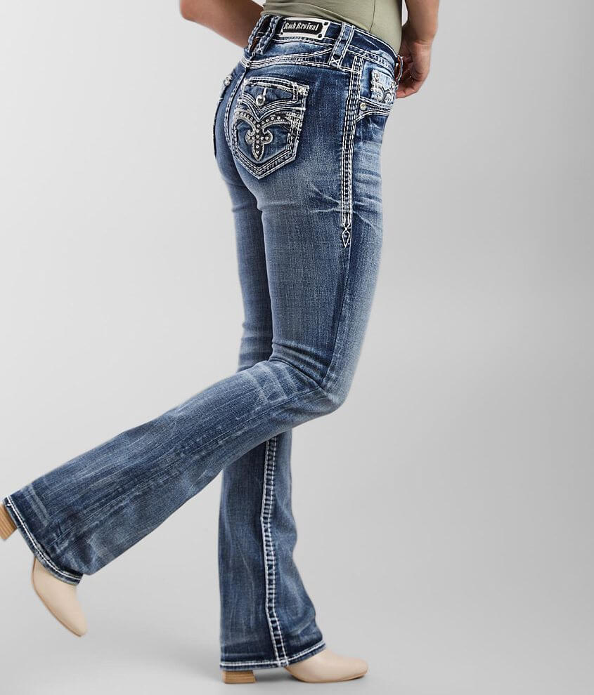 Rock Revival Semolina Mid-Rise Boot Stretch Jean front view