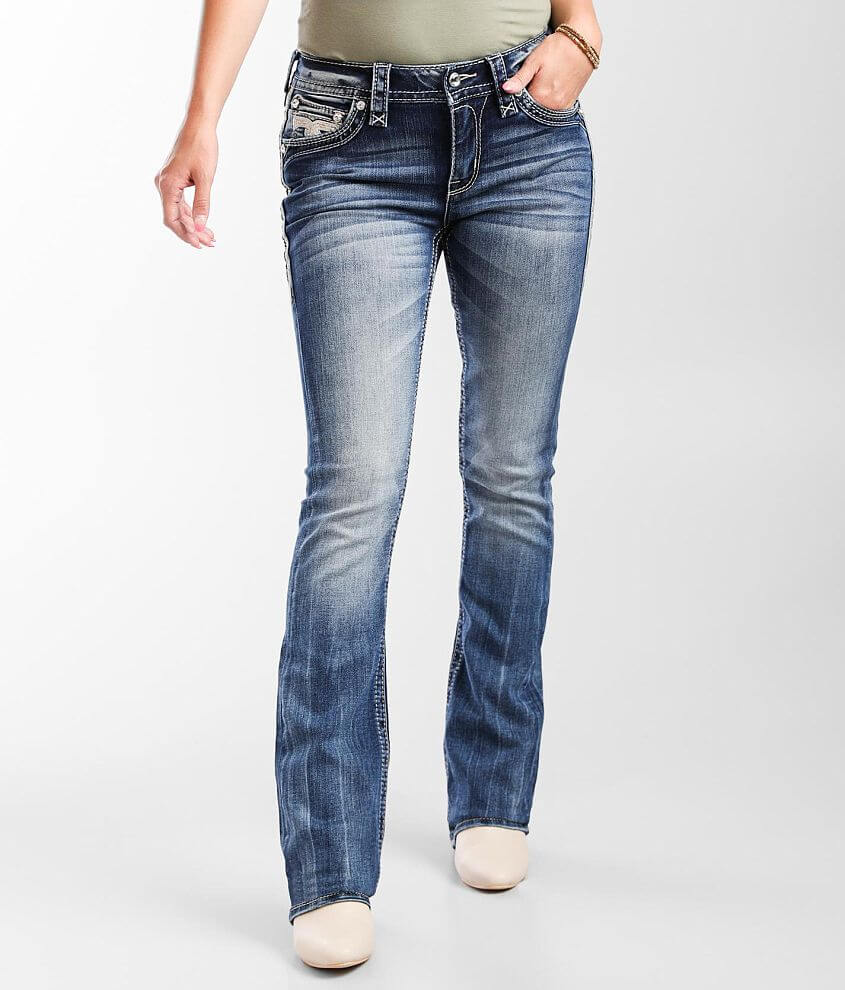 Rock Revival Ambrosia Mid-Rise Boot Stretch Jean front view