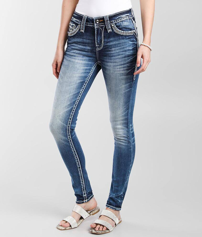 Rock Revival Petunia Mid-Rise Skinny Stretch Jean front view