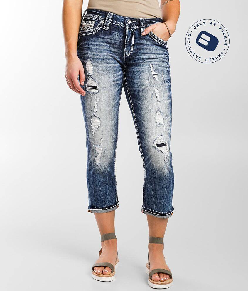 Rock Revival Amberlight Easy Stretch Cropped Jean front view
