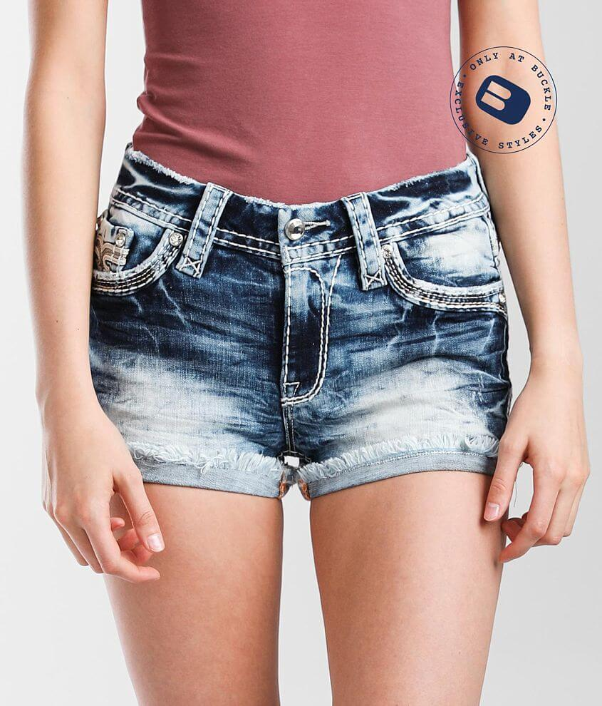 Rock Revival Nadine Mid-Rise Stretch Short front view