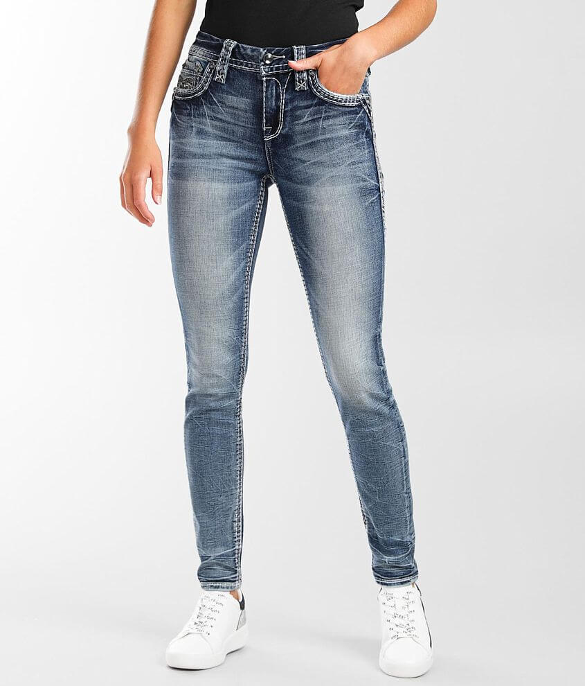 Rock Revival Ema Mid-Rise Skinny Stretch Jean front view