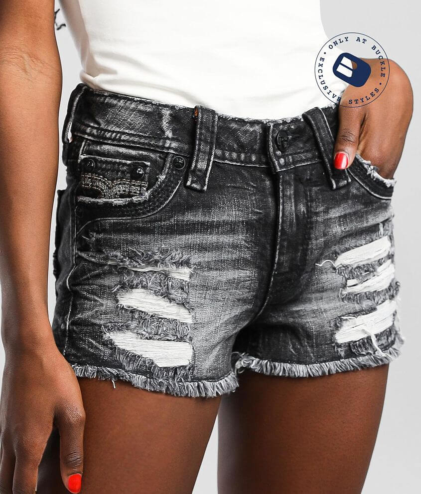 Rock Revival Laela Mid-Rise Stretch Short front view