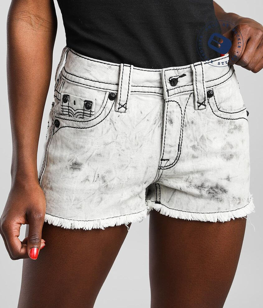 Rock Revival Cleora Mid-Rise Stretch Short front view