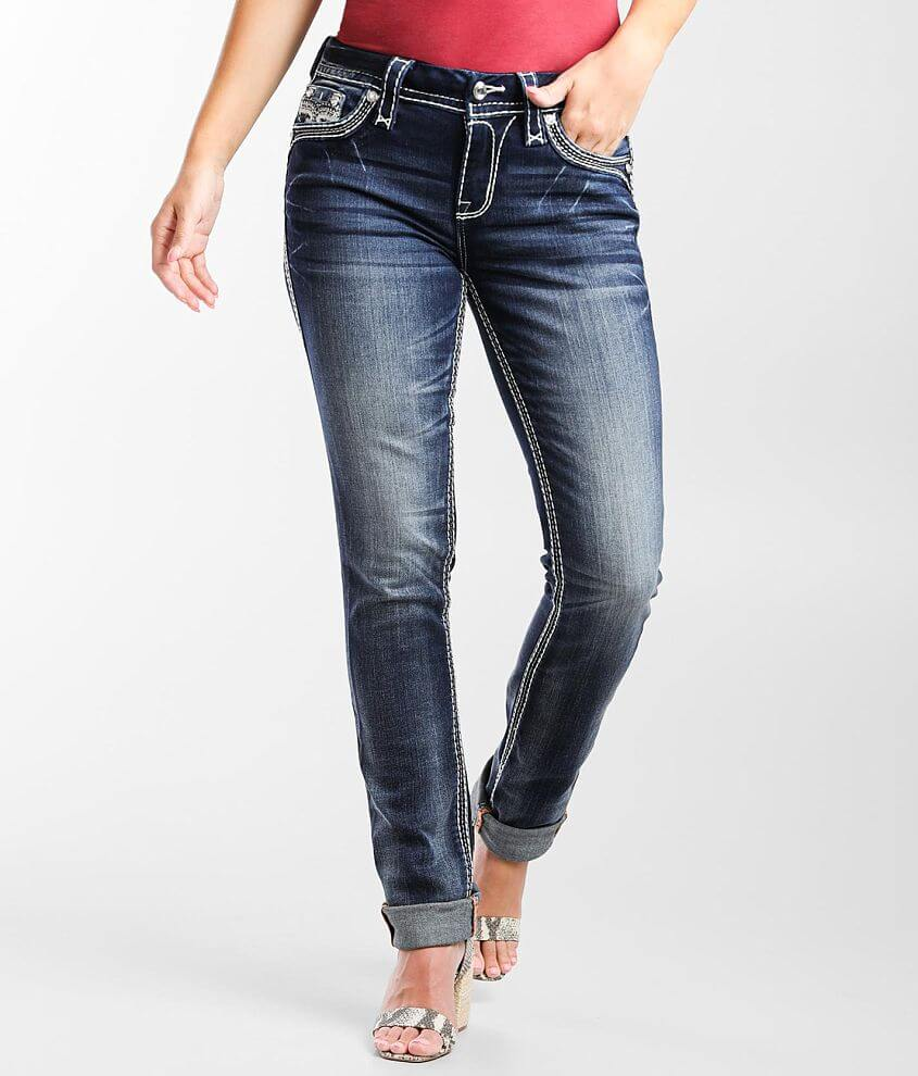 Rock Revival Marilu Mid-Rise Straight Stretch Jean front view