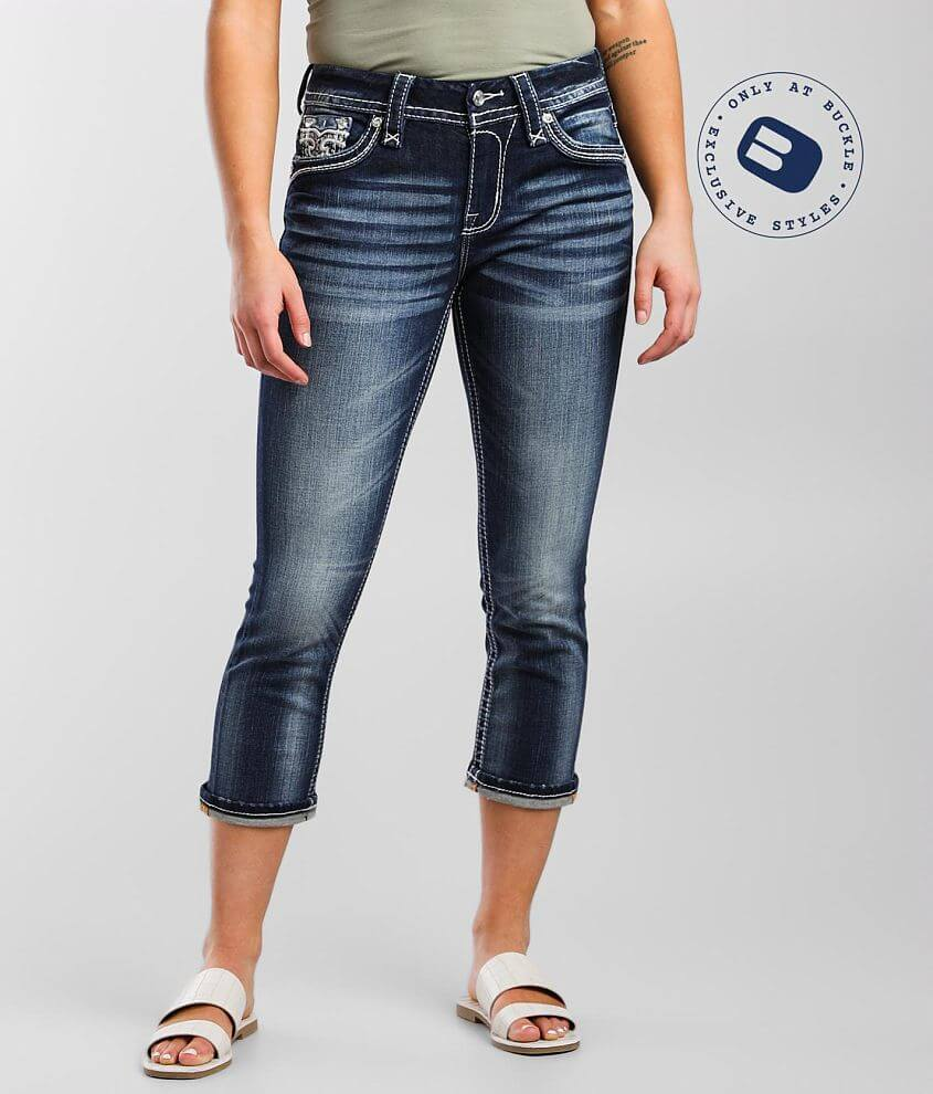 Rock Revival Cadeau Easy Stretch Cropped Jean front view