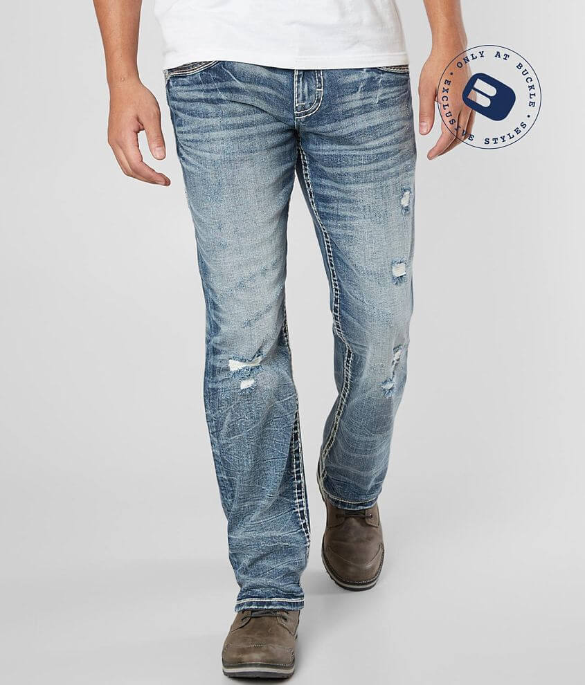Rock Revival Carbry Relaxed Taper Stretch Jean front view