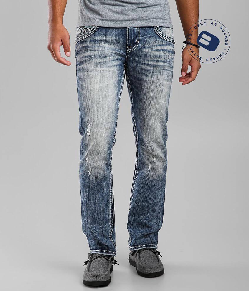 Rock Revival Baldwen Slim Straight Stretch Jean front view