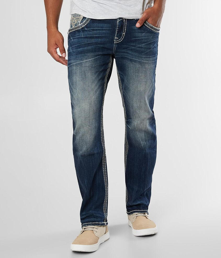 Rock Revival Albus Relaxed Taper Stretch Jean front view