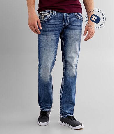 Rock Revival Aquatic Straight Stretch Jean