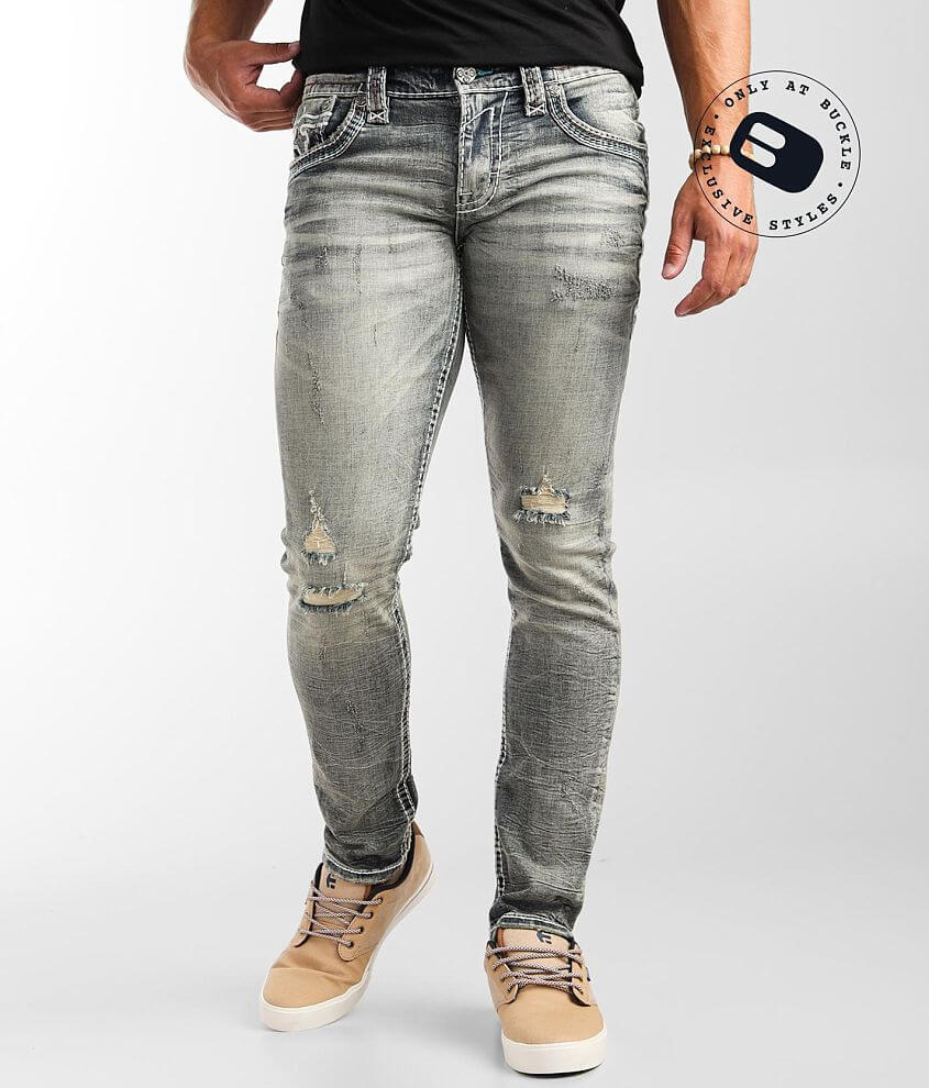 Rock Revival Quency Slim Taper Stretch Jean front view
