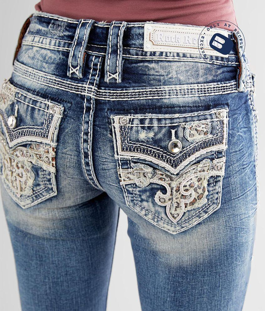 Rock Revival Celinda Straight Stretch Cuffed Jean front view