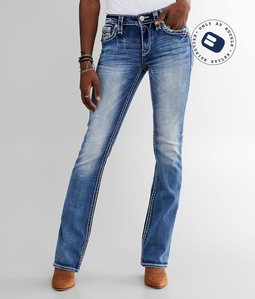 Rock Revival Celinda Mid-Rise Boot Stretch Jean front view