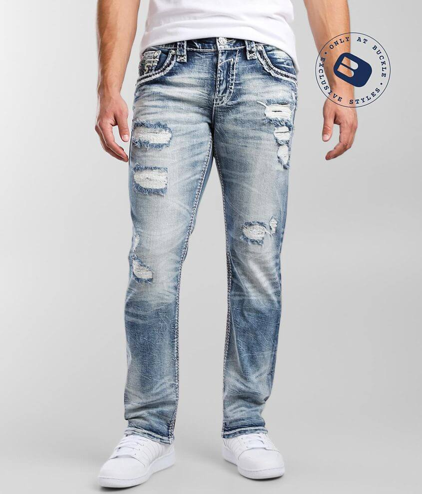 Rock Revival Fincher Straight Stretch Jean front view